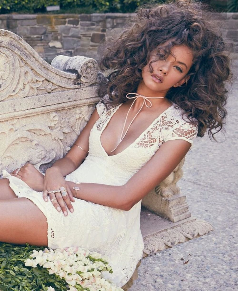 Free shipping buy best women love summer plunging neckline white