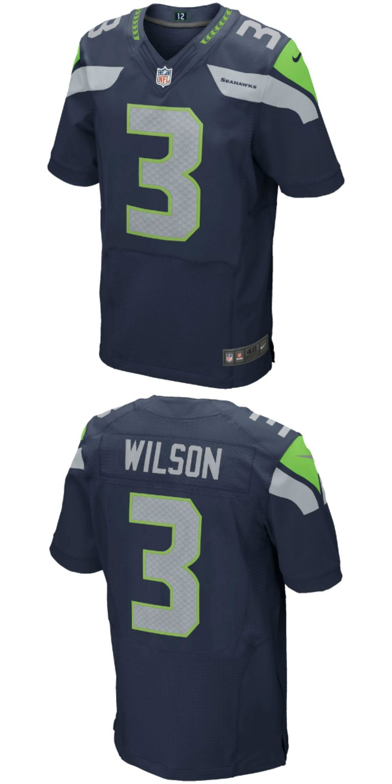 more photos 6b2cd 9a0eb Russell Wilson Seattle Seahawks Football Jersey | NFL ...