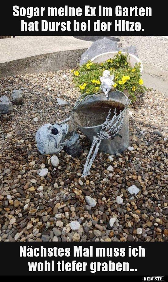 Sogar mein Ex im Garten ist durstig in der Hitze ...