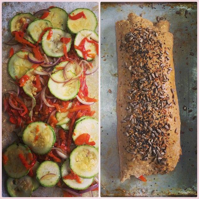Stromboli de abobrinha e pimentão