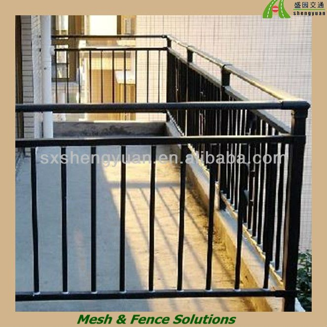 Indoor Wrought Iron Stair Handrail Railings Used Sgs Certified