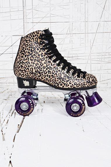 Rookie - Patins à roulettes classiques motif léopard chez Urban Outfitters