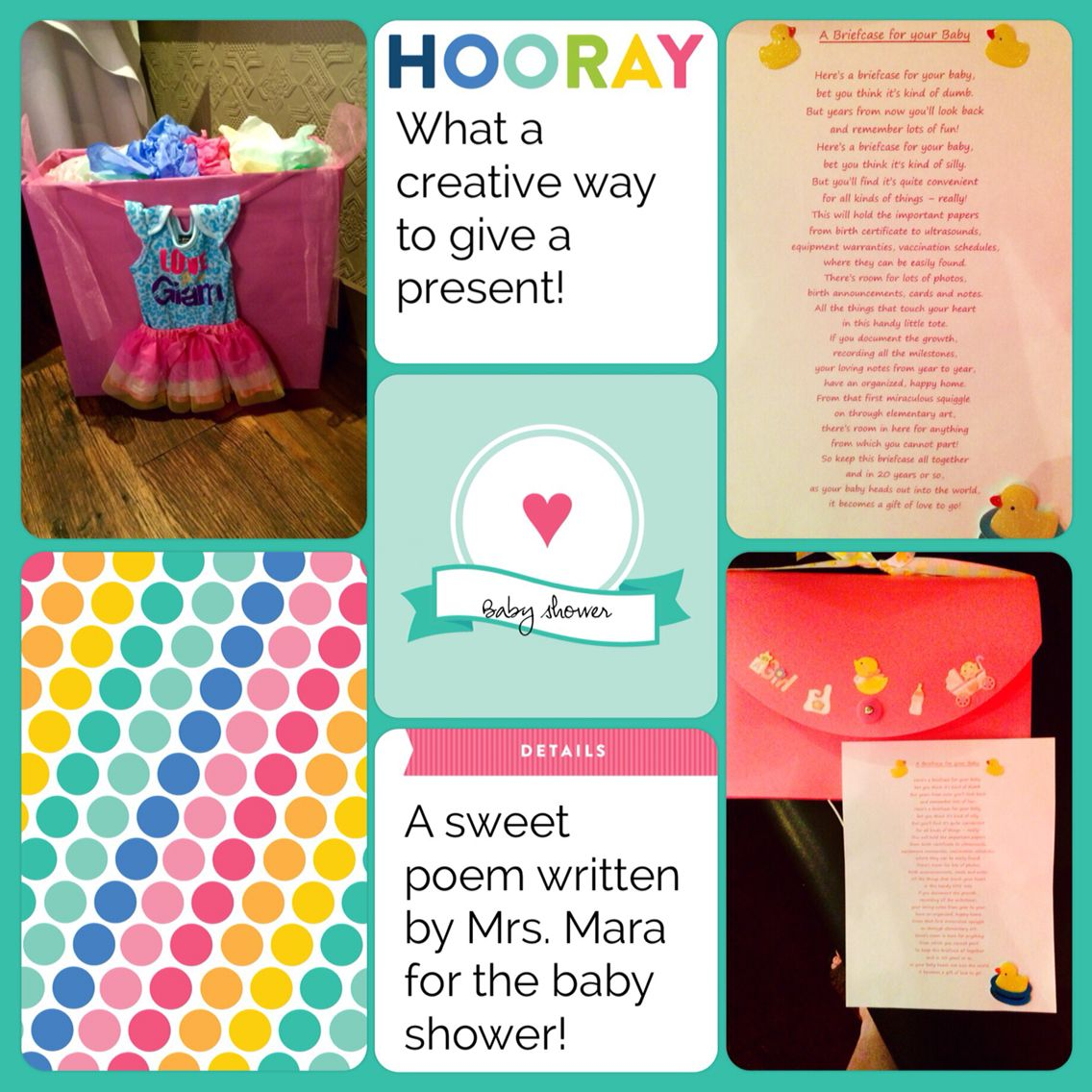 A sweet poem to add to an accordion folder for a mom to be to keep all the important keepsakes for baby in.