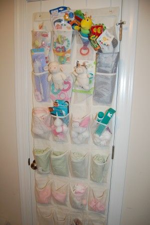 Over The Door Shoe Organizers The Frugal Free Gal Baby Room Organization Baby Organization Baby Nursery Storage