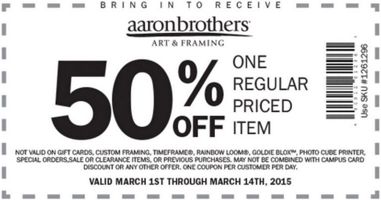 Check out offers from Aaron Brothers Art & Framing using GeoQpons ...