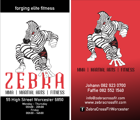 Business Card For Zebra Crossfit In Worcester