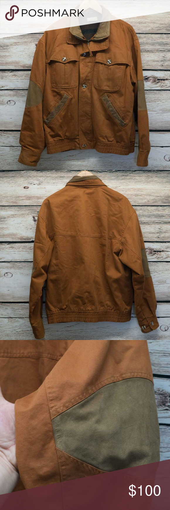 The Territory Ahead Canvas Bomber Jacket Leather Trim Elbow Patches Great Jacket Missing A Button Toward Bottom As Shown In Ph Bomber Jacket Jackets Fashion [ 1740 x 580 Pixel ]