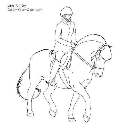 Paarden Kleurplaten Fjord.Horse With Saddle Coloring Pages