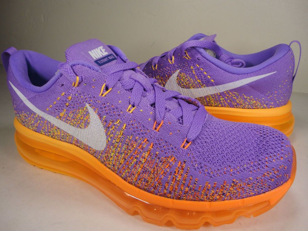 separation shoes 2d893 7f5af Womens Nike Flyknit Max Atomic Purple White Total Orange SZ 10 (620659-500)   Nike  RunningCrossTraining