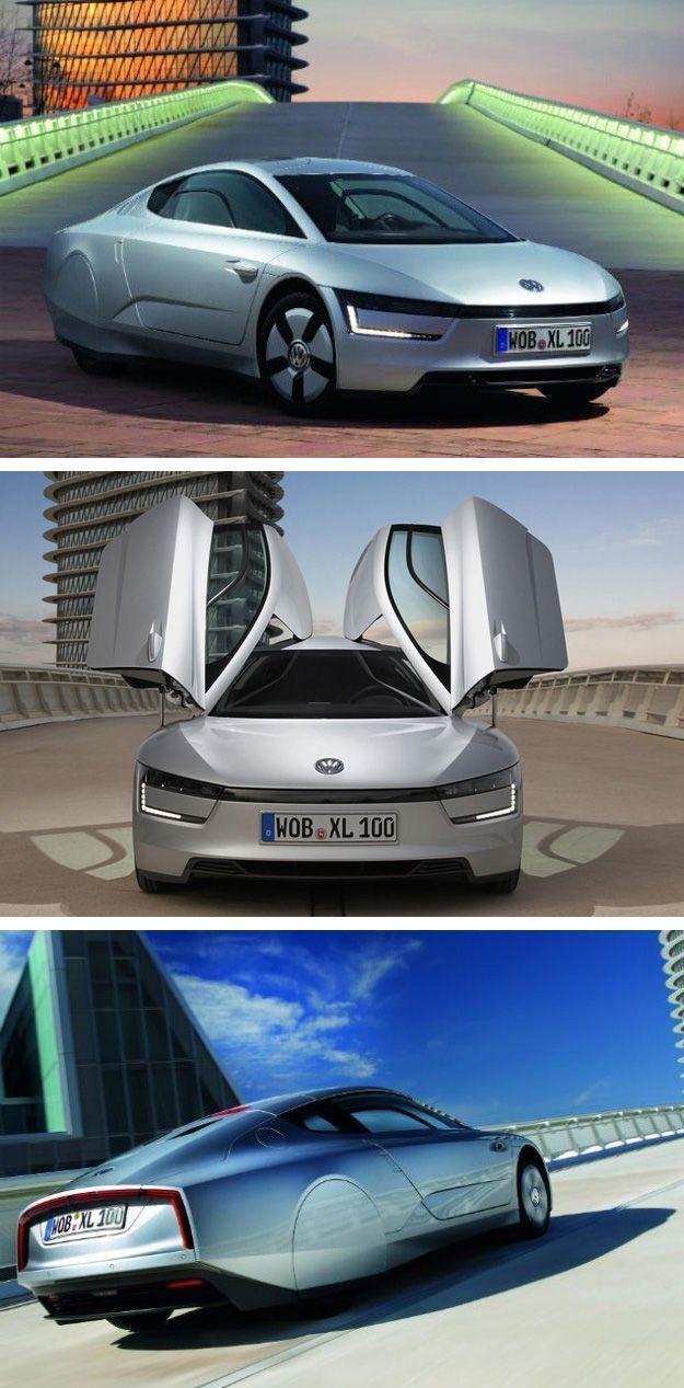 Futuristic Volkswagen Hybrid Gets 261 Miles Per Gallon
