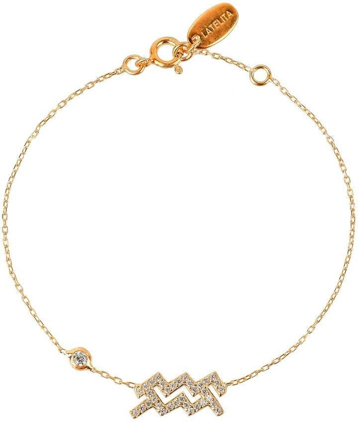 Latelita London Aquarius Zodiac Bracelet Gold TgcY2cXG