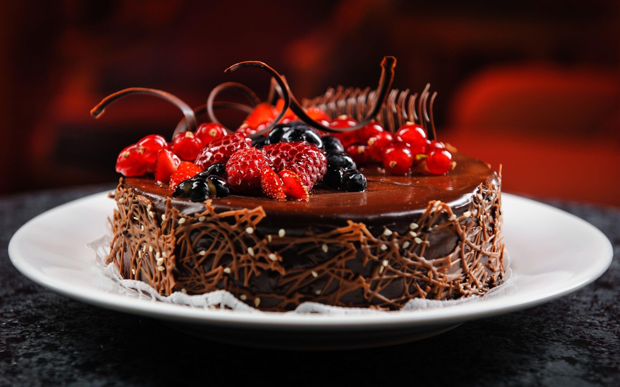チョコレートケーキ ベリー ラズベリー ブルーベリー スグリ