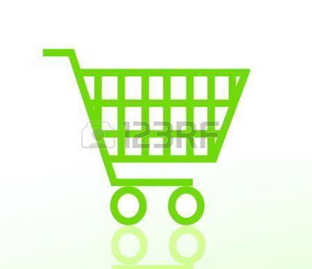 Carro De La Compra Verde Aislado Sobre Fondo Blanco Carritos De Supermercado Compras Fondo Blanco