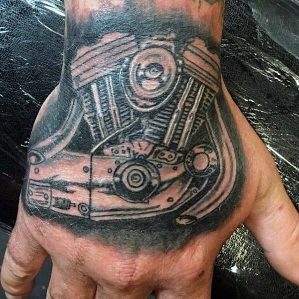 a93f70315 70 Biker Tattoos For Men - Manly Motorcycle Ink Design Ideas | Tatts ...