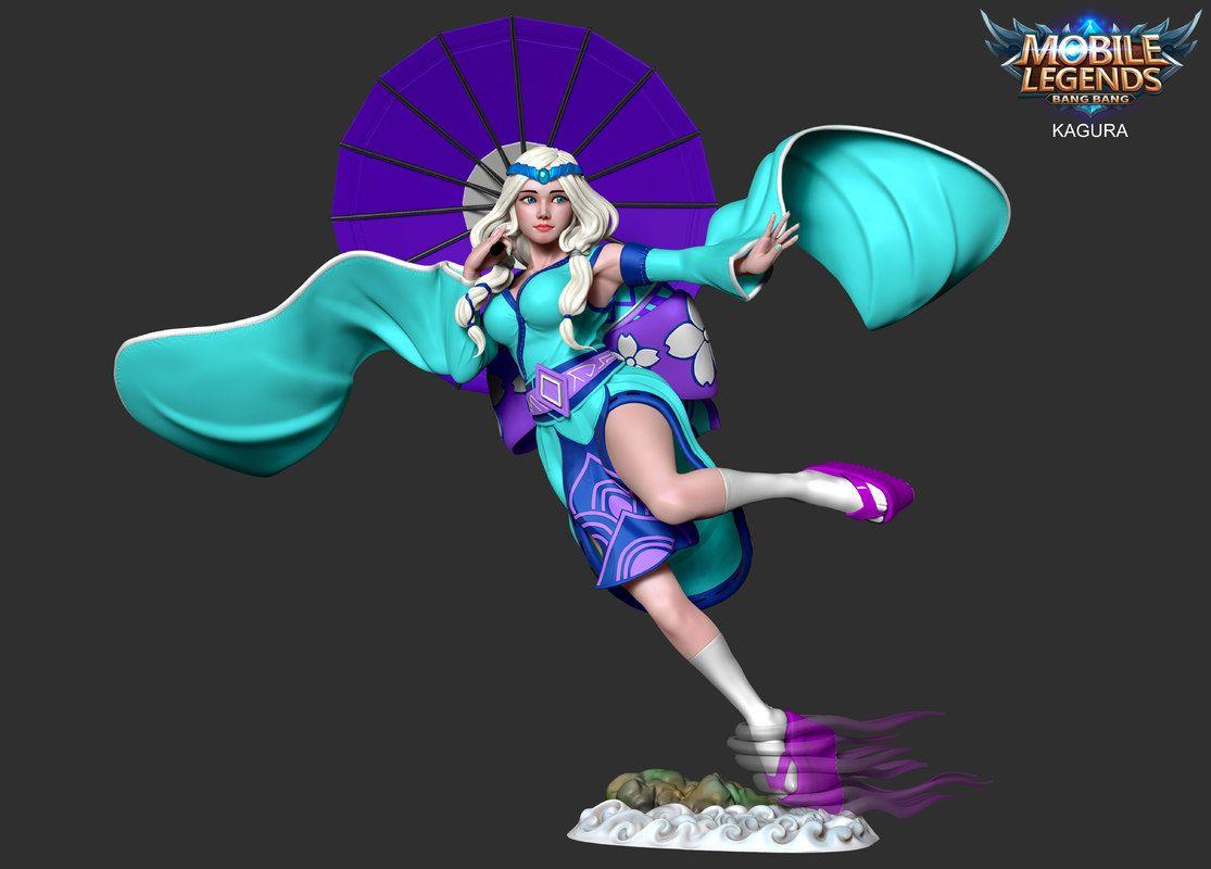 3d kagura mobile legend model   3d characters, legend