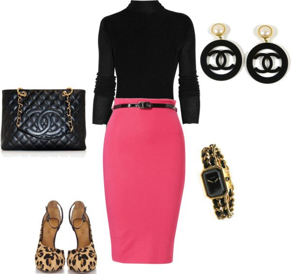 """""""Black, Pink & Chanel"""" by bonnaroosky ❤ liked on Polyvore"""