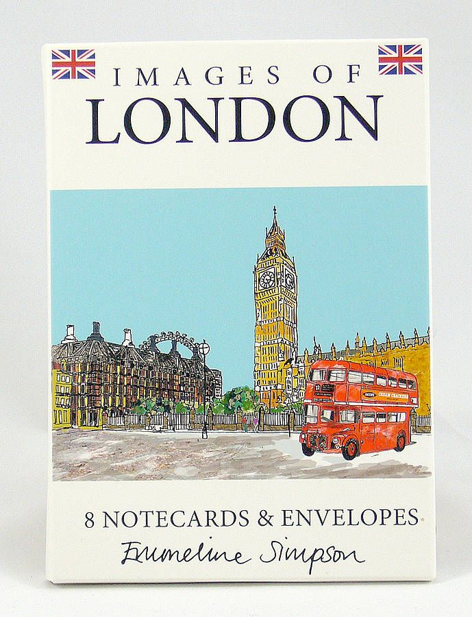 Set Of Eight London Notecards