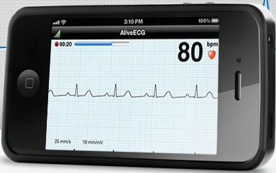A special iPhone case and app can be used for heart rhythm