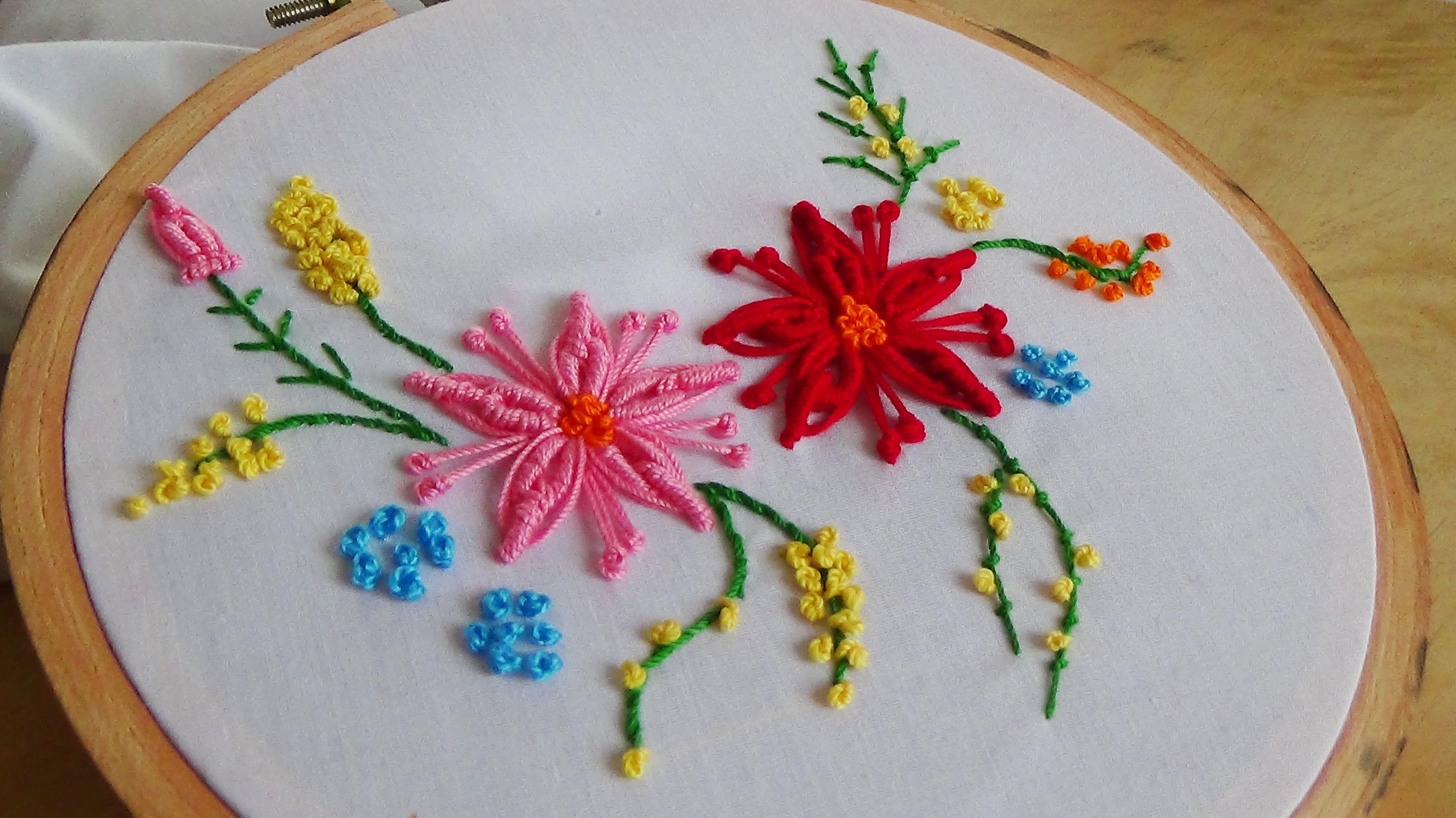Hello today we are making the bullion flower stitch don