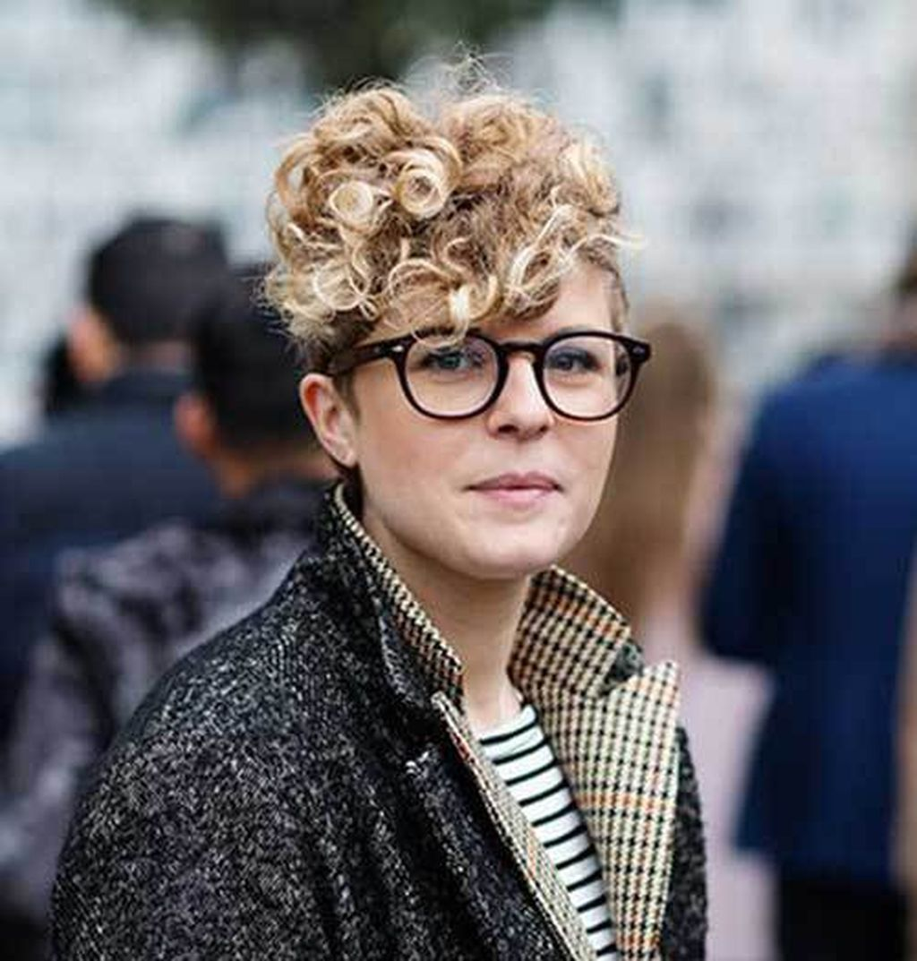 pretty short hairstyles ideas for curly hair short