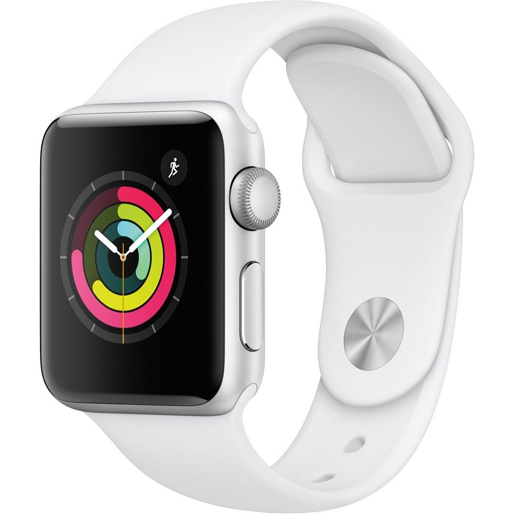 Apple Watch Series 3 Gps 38mm Silver Aluminum Case With Sport Band