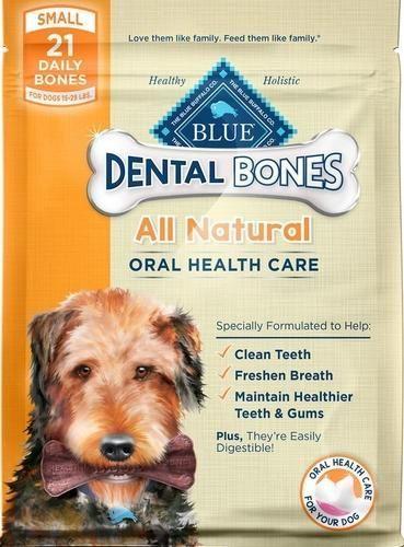 Blue Buffalo Dental Bones Dog Chews Small Treats 12 Oz Dog