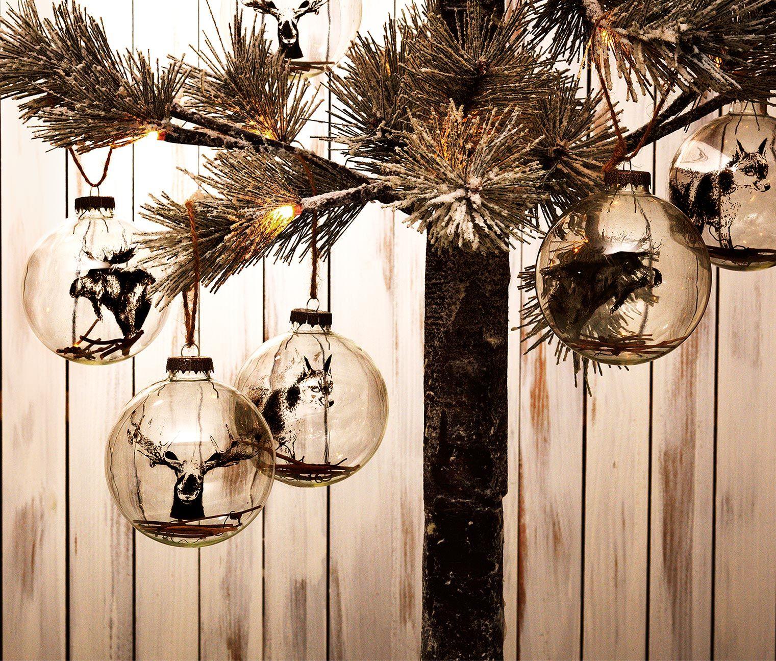 Dekoracyjne Szklane Kule 3 Sztuki Handmade