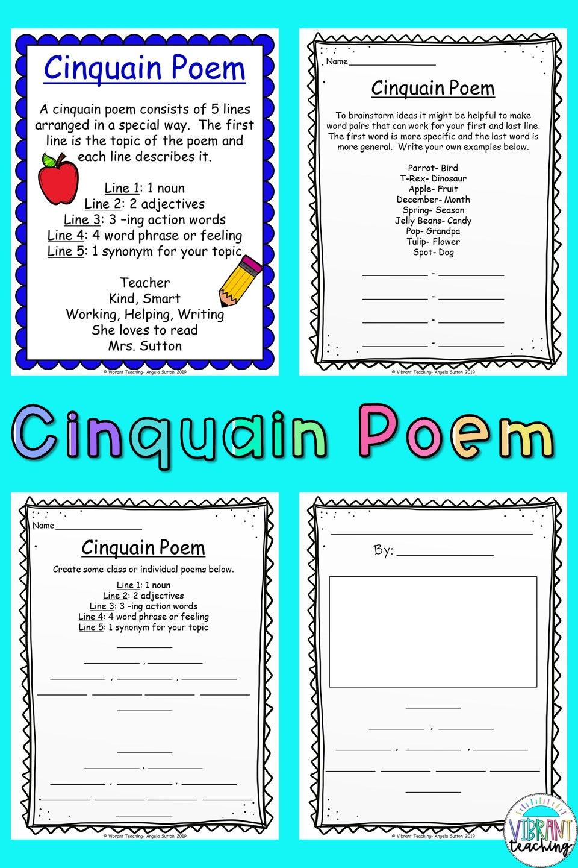 cinquain poems  cinquain poems cinquain poetry writing