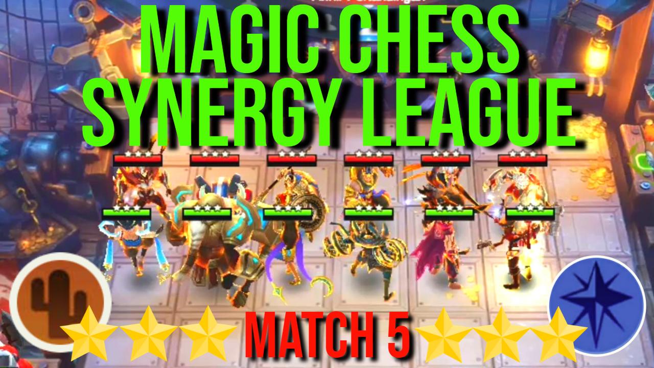 All 3 Star Western Desert Vs All 3 Star Celestial Magic Chess Synergy League Match 5