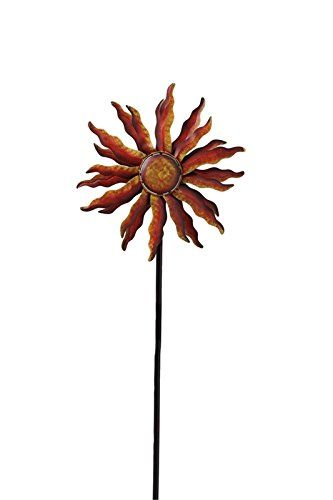Wind Sculptures N Spinners Spinning Sun Kinetic Garden Art Balcony *** This  Is An