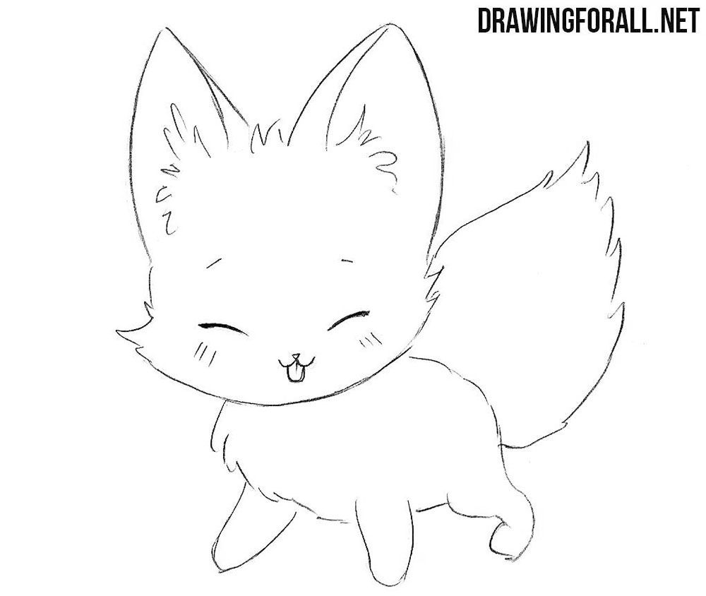 How To Draw A Chibi Fox Drawingforall Net Drawings Chibi Drawings Cute Kawaii Drawings