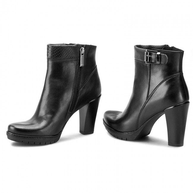 Botki Lasocki Mokka 02 Czarny Ankle Boot Shoes Boots