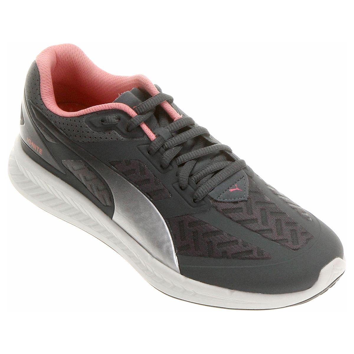 86de63e1a4d54 Tênis Puma Ignite Powercool Feminino Chumbo e Pink   Netshoes ...