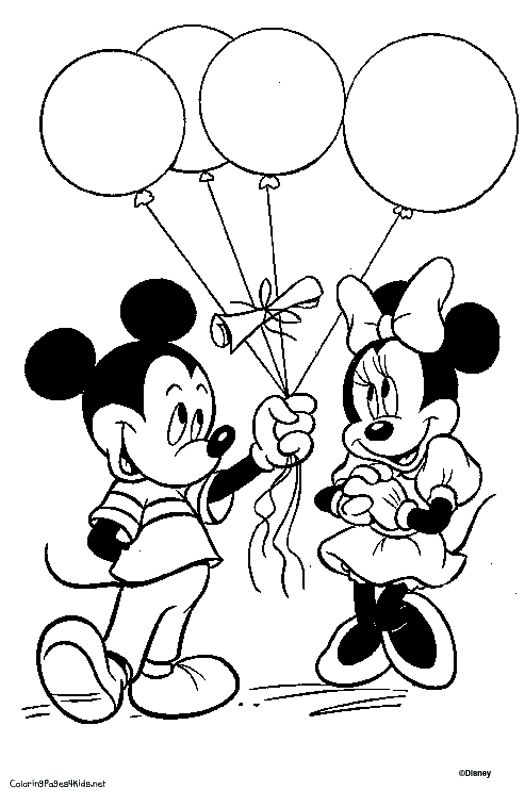 Coloriage disney de Mickey lune 26 … Mickey coloring