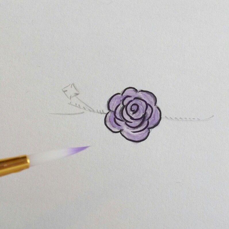 Bespoke bridal hair accessory sketch by Eva-Mae Jewellery