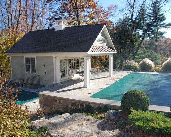 Rustic Pool House Ideas: Rustic Farmhouse Design Ideas With Simple Architecture