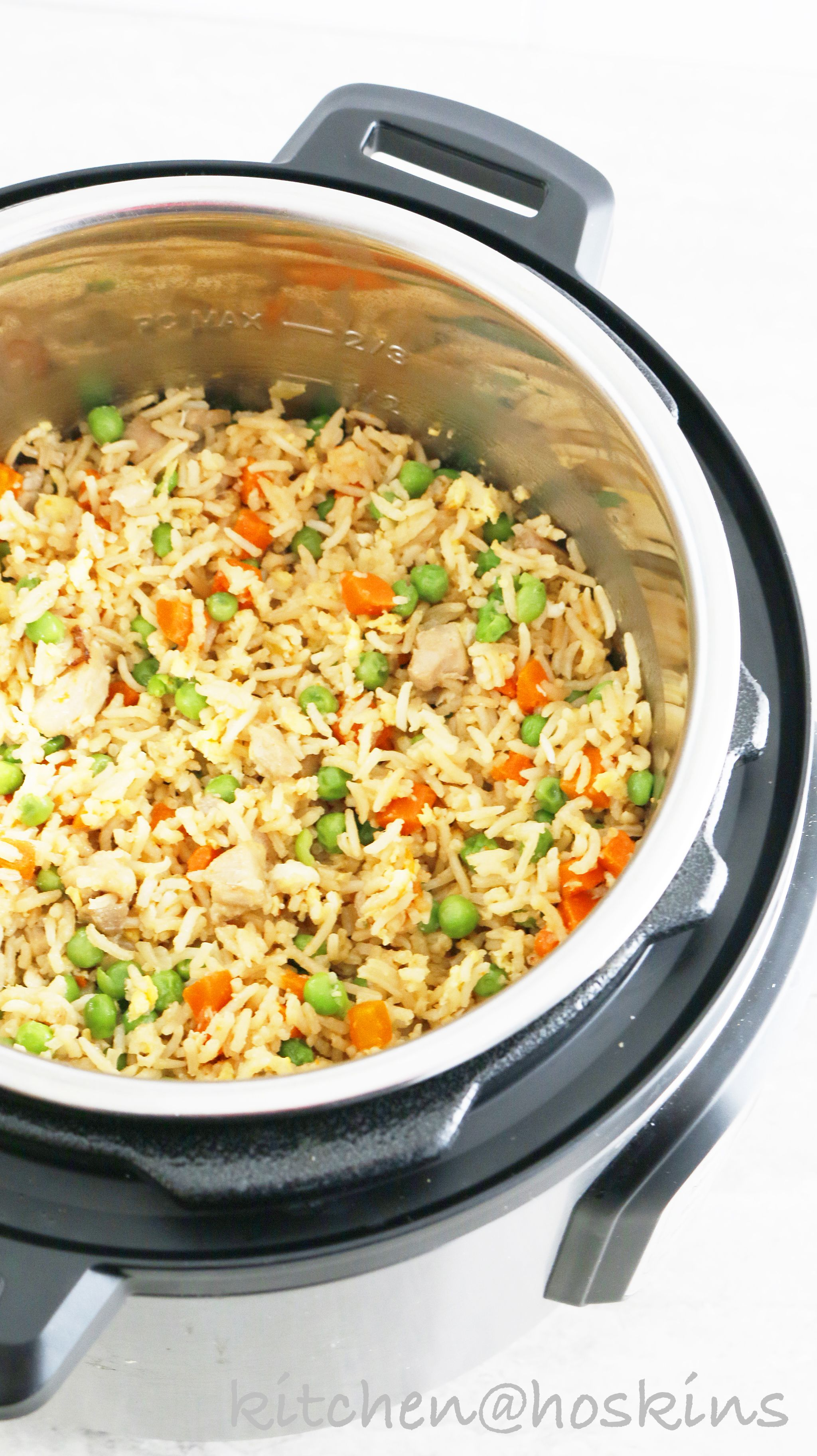 how to make fried rice in pressure cooker