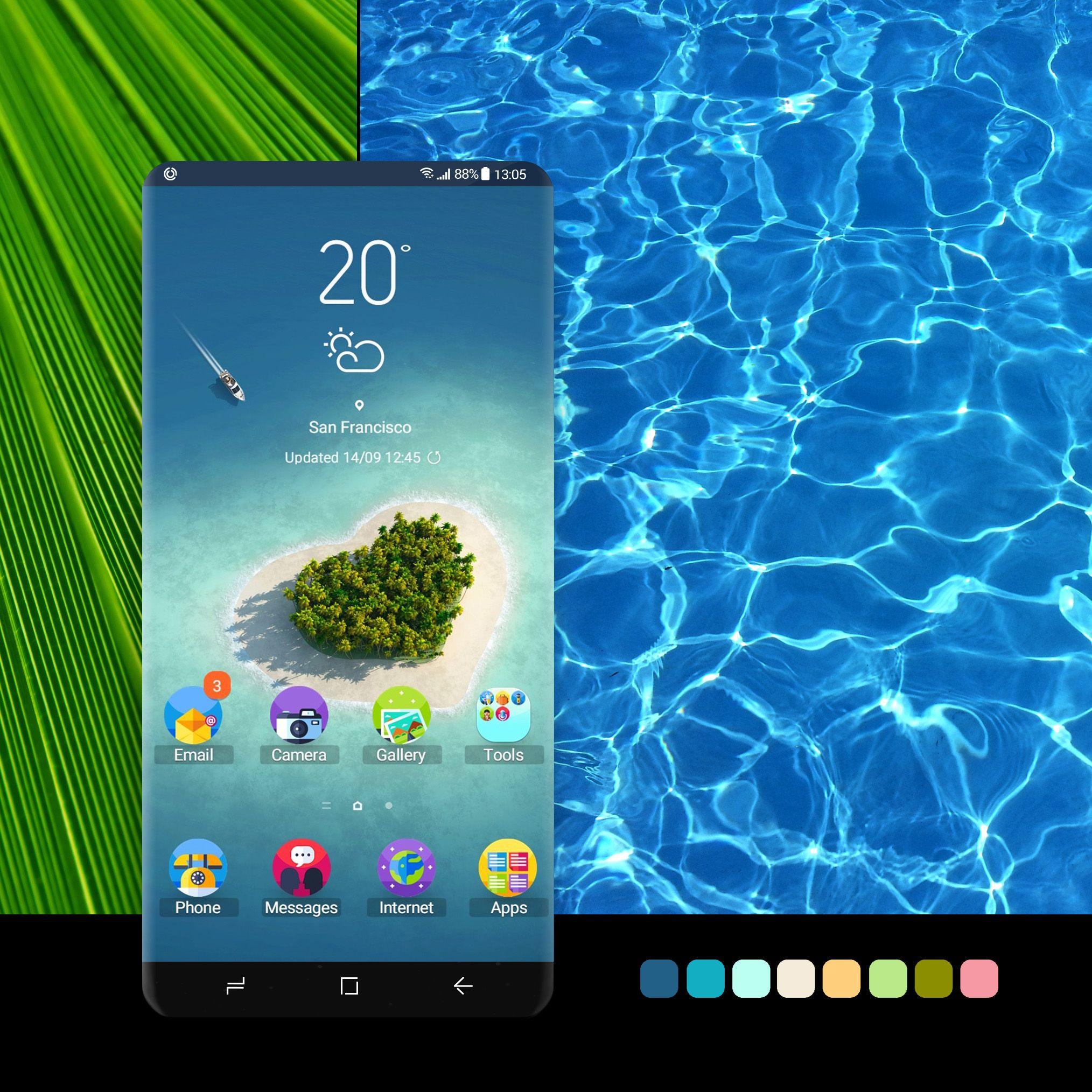 Tropical Beach Samsung Wallpaper Beach Themes Galaxy Theme