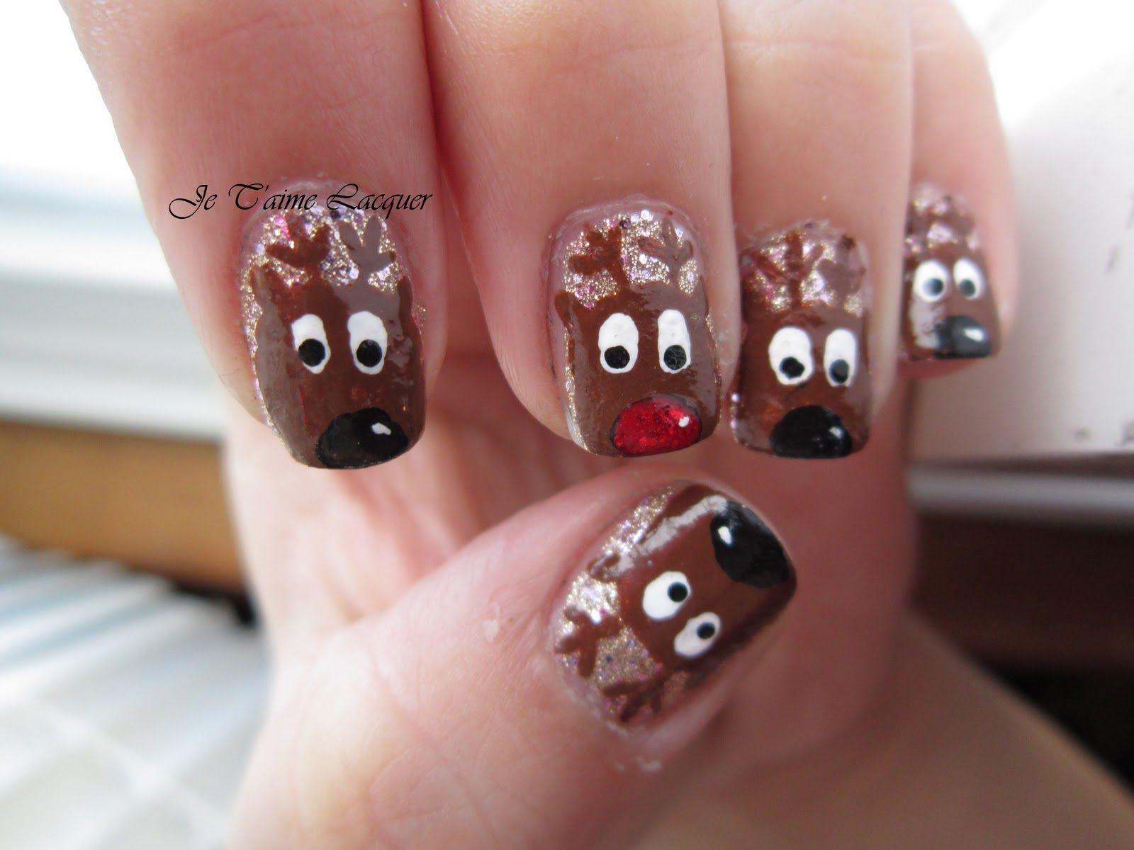 christmas nail idea | Nails | Pinterest | Make up, Creative nail ...