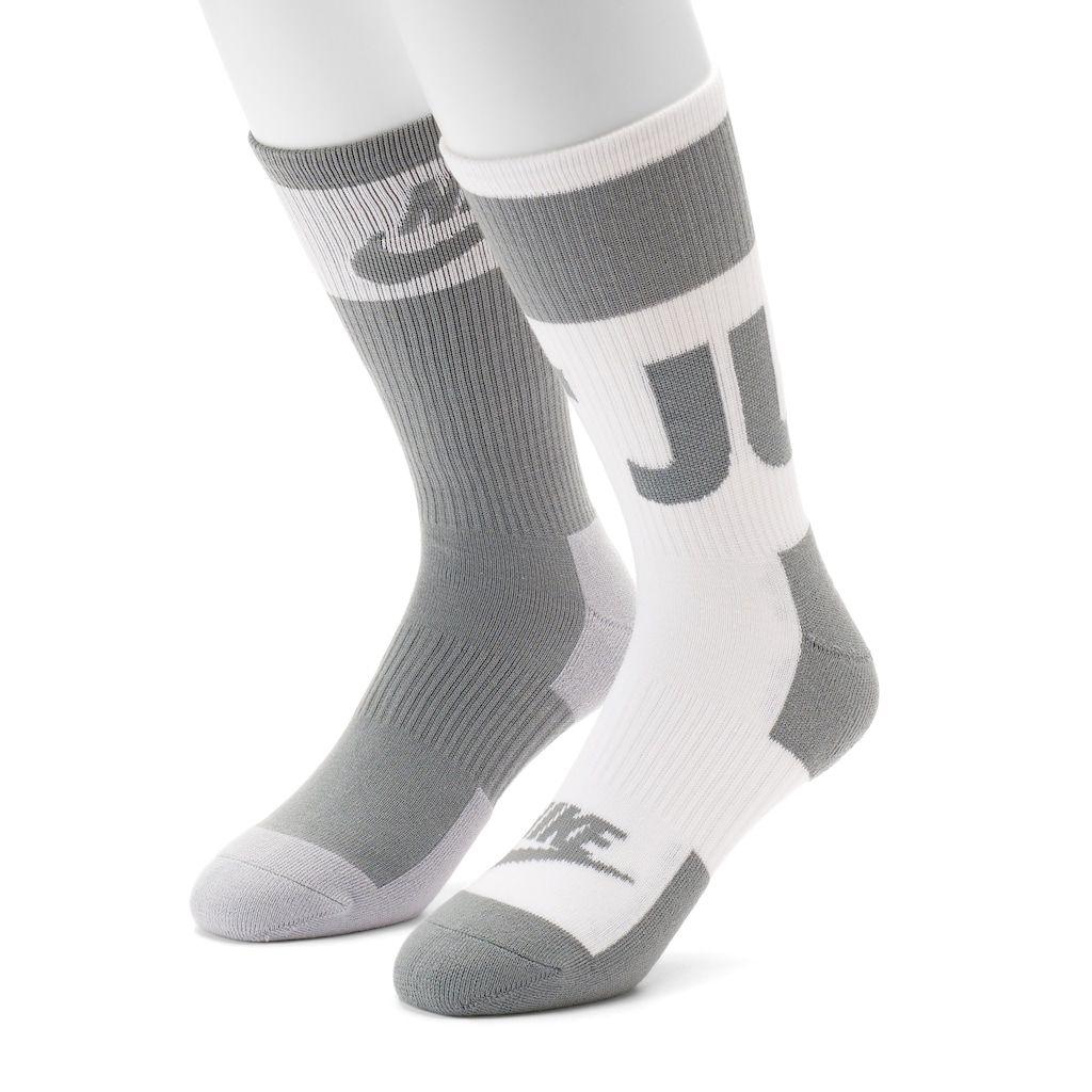 Men's Nike 2-pack Advanced Crew Socks, Size: 12-15, Red Overfl