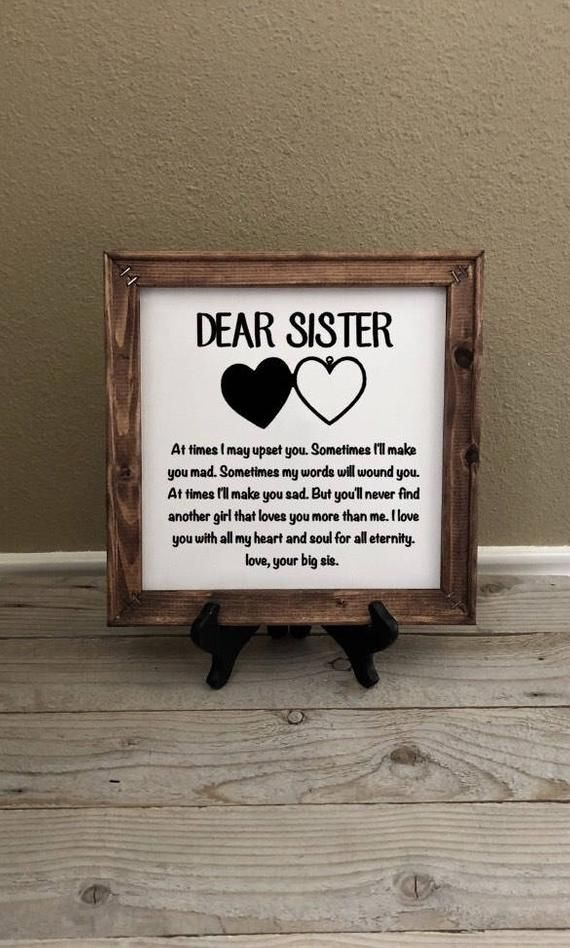 Reverse Canvas, Gift for Sister, Birthday Gifts, Wedding Gift, Christmas Gifts, Little Sister…