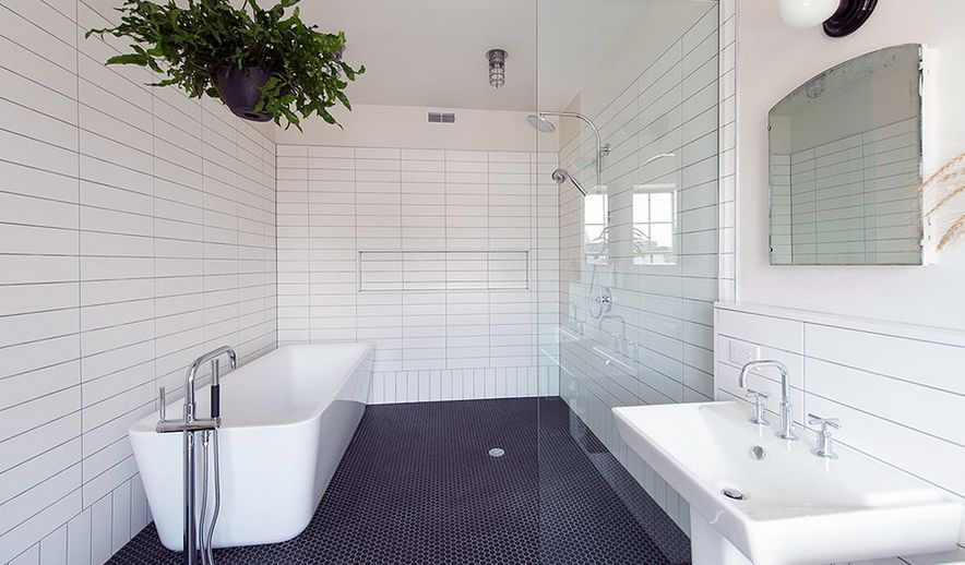 Gorgeous Variations on Laying Subway Tile | Subway tiles, Bath and ...