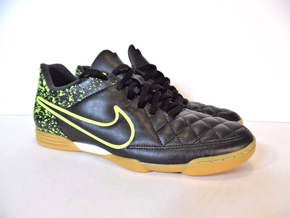 b9bd29233 NIKE TIEMPO RIO II INDOOR SOCCER SHOES STYLE 631523-007 Size US 9.5, UK 8.5  NEW #Nike