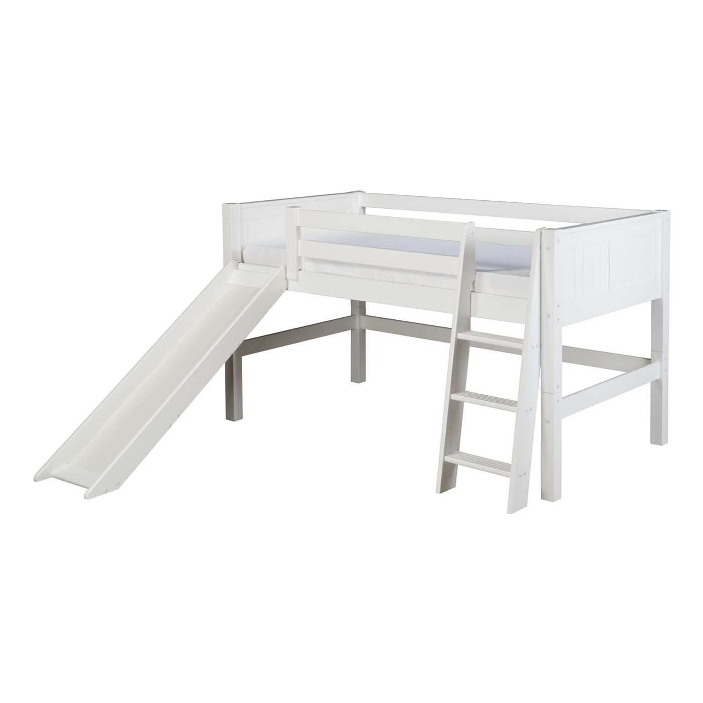 Loft bed with slide weight limit  Shop Camaflexi C Panel Low Loft Bed with Slide at The Mine Browse