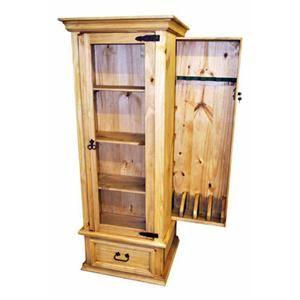 Million Dollar Rustic Mansion Gun Curio Cabinet   Showplace Rent To Own   Curio  Cabinet