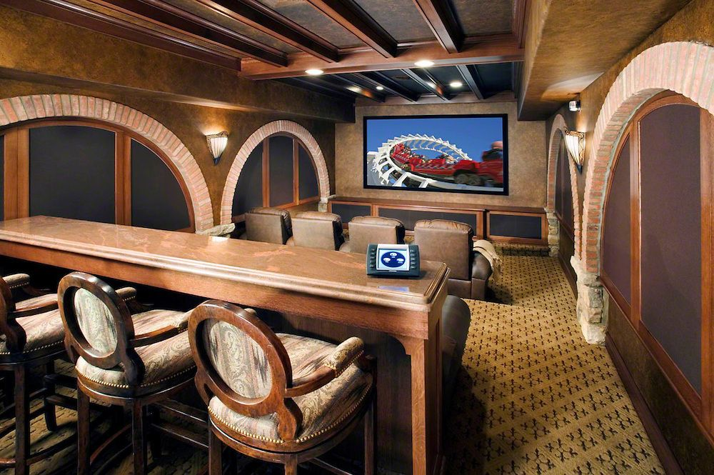 Home Theater Bar Counter Touch Control Cedar Remodel Pinterest