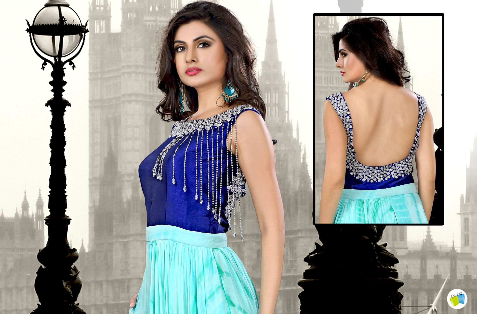 Buy Readymade Indo Western Dresses Online for Girls   https://goo.gl/c53QY2  #indiabazaaronline #IndowesternDresses #ReadymadeIndowesternGown #BuyIndoWesternDressonline #DesignerDresses