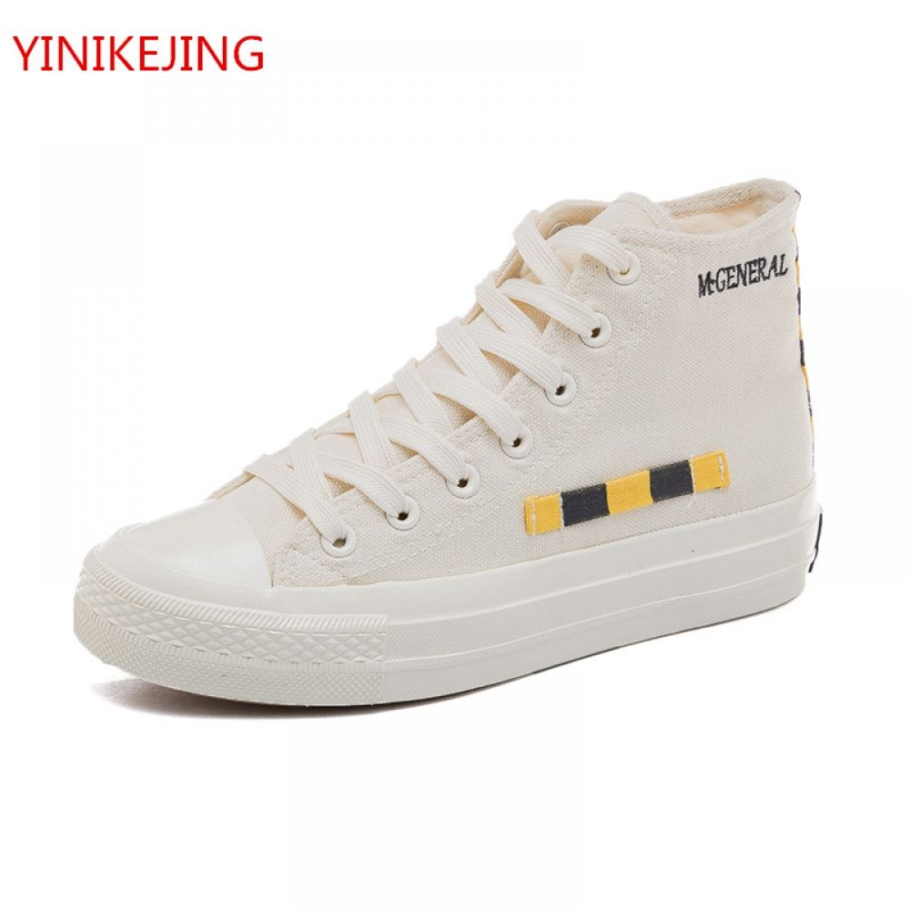 30faba35c Men s Round Canvas Fashion High-top Sneakers Shoes Casual Lace Up  Skateboard Shoes Newest Style