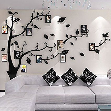 alicemall 3d wall stickers photo frames familytree wall decal easy