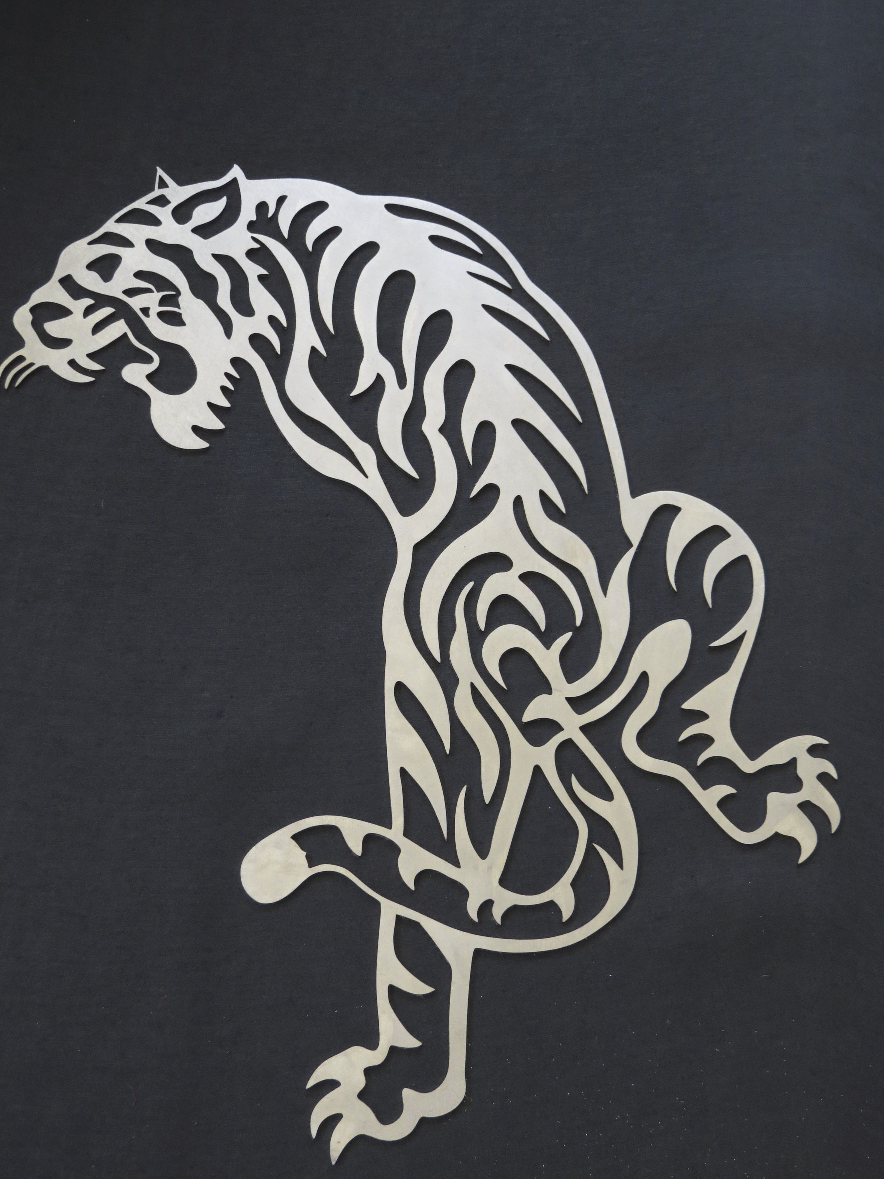 Wall Art Stainless Steel Laser Cut Tiger Awesome